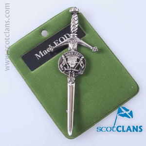 Clan Crest Pewter Kilt Pin with MacLeod Crest