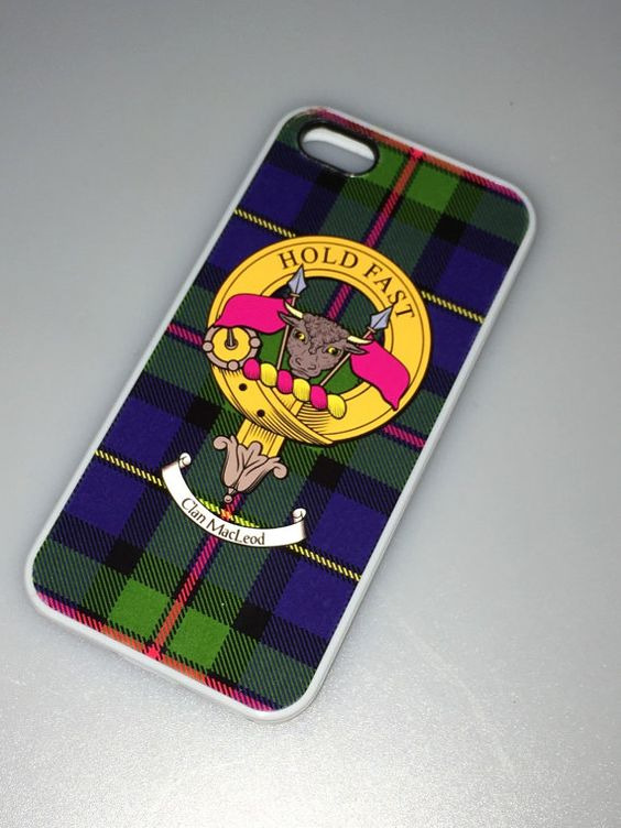 MacLeod Tartan and Clan Crest iPhone Rubber Case - 4 - 7