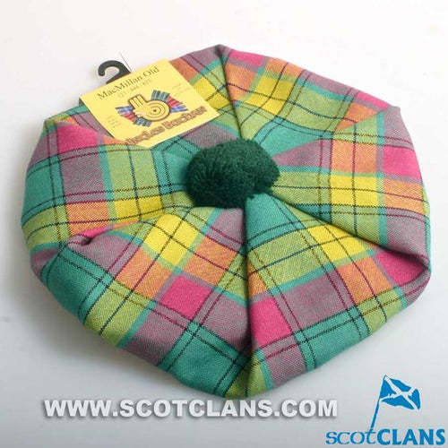 Pure Wool Golf Cap in MacMillan Old Ancient Tartan