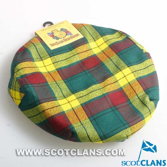 Pure Wool Golf Cap in MacMillan Old Modern Tartan