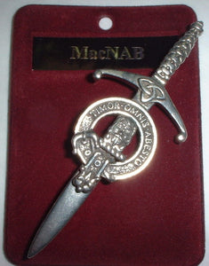 Clan Crest Pewter Kilt Pin with MacNab Crest