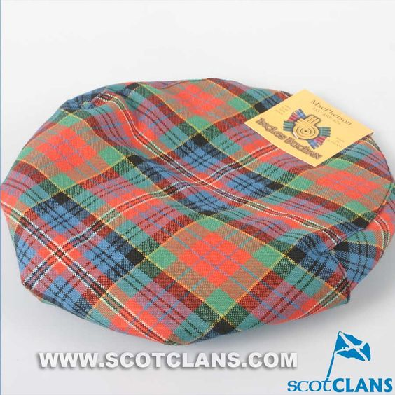 Pure Wool Golf Cap in MacPherson Ancient Tartan