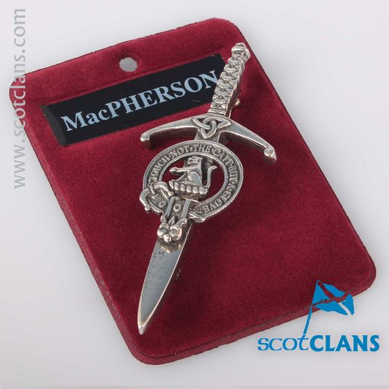 Clan Crest Pewter Kilt Pin with MacPherson Crest
