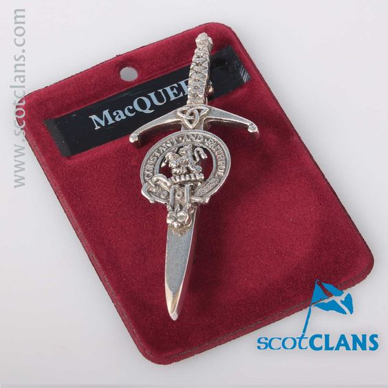 Clan Crest Pewter Kilt Pin with MacQueen Crest