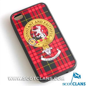 MacQueen Tartan and Clan Crest iPhone Rubber Case - 4 - 7