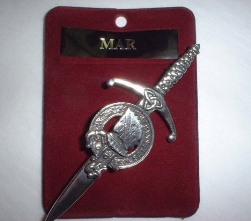 Clan Crest Pewter Kilt Pin with Mar Crest