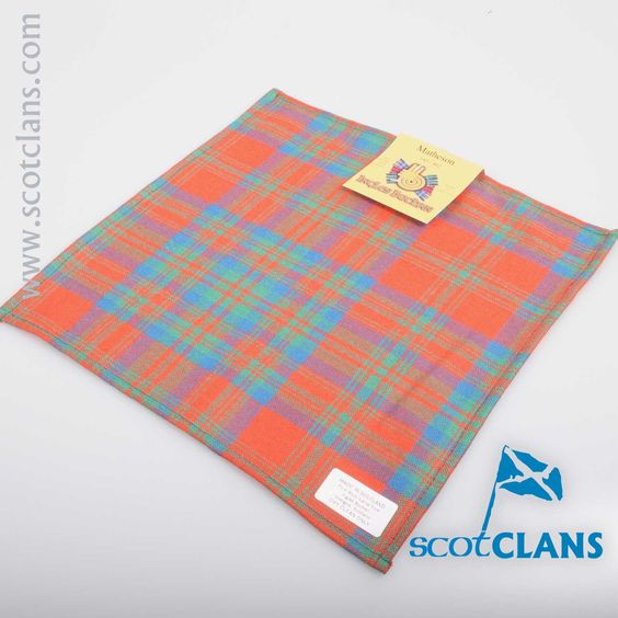 Pocket Square in Matheson Ancient Tartan