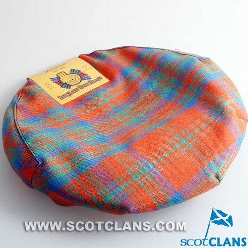 Pure Wool Golf Cap in Matheson Ancient Tartan