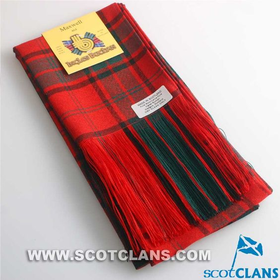 Wool Full Length Sash in Maxwell Modern Tartan