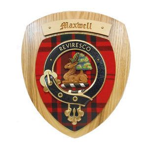 Maxwell Clan Crest Plaque