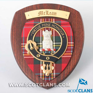 MacLean Clan Crest Plaque