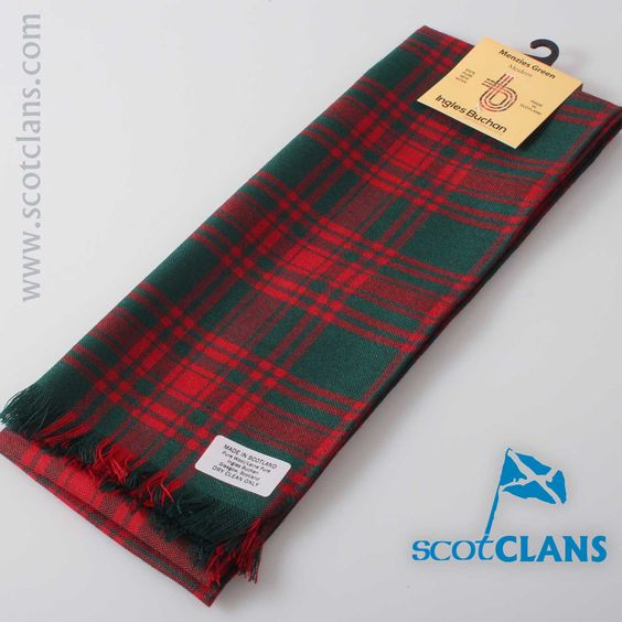 Scarf in Menzies Green Tartan