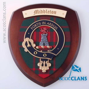 Middleton Clan Crest Plaque
