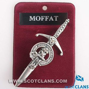Clan Crest Pewter Kilt Pin with Moffat Crest