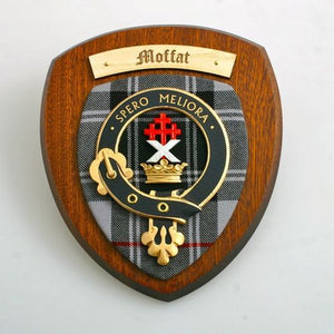 Moffat Clan Crest Plaque