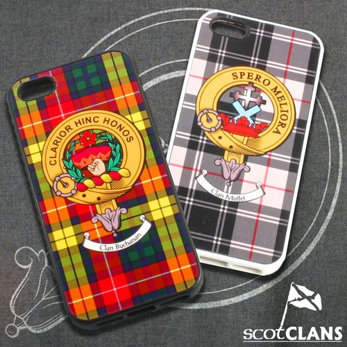 Moffat Tartan and Clan Crest iPhone Rubber Case - 4 - 7