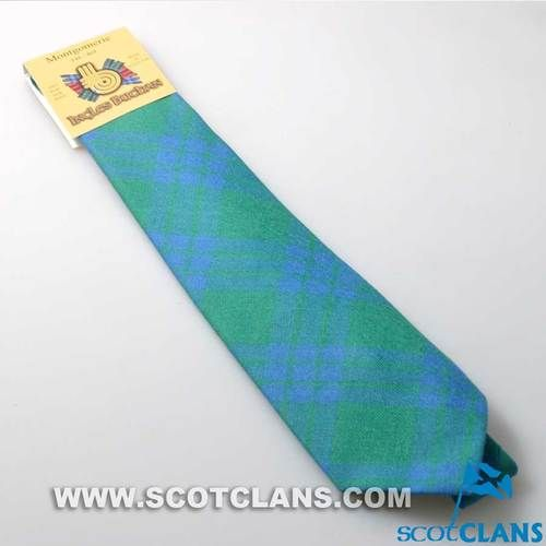 Pure Wool Tie in Montgomery Ancient Tartan