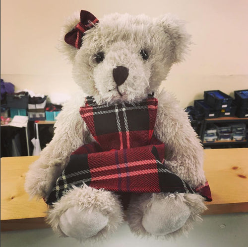 Wee Morag Ancestral Bear in Ramsay Red Tartan