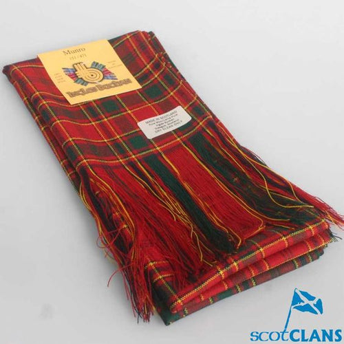 Wool Full Length Sash in Munro Ancient Tartan