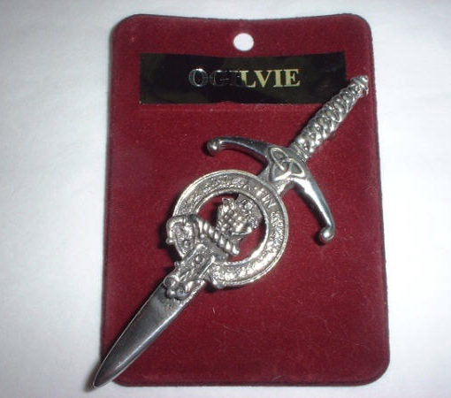 Clan Crest Pewter Kilt Pin with Ogilvie Crest