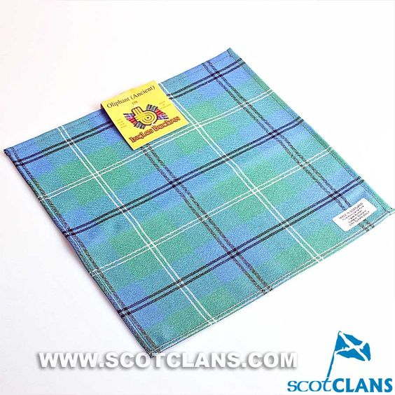 Pocket Square in Oliphant Ancient Tartan