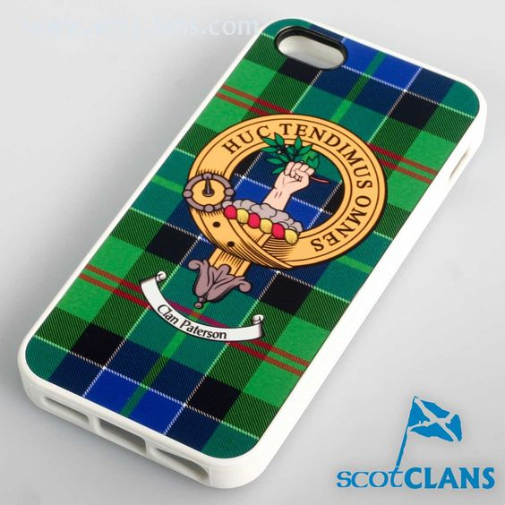 Paterson Tartan and Clan Crest iPhone Rubber Case - 4 - 7