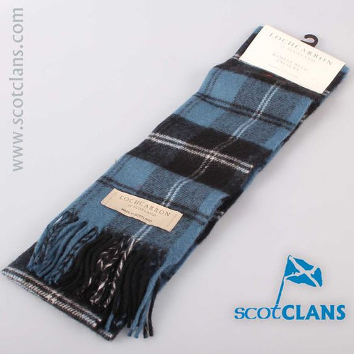 Lambswool Scarf in Ramsay Blue Ancient Tartan