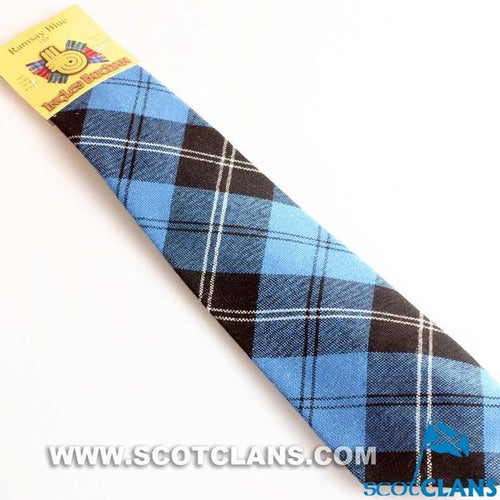 Pure Wool Tie in Ramsay Blue Tartan