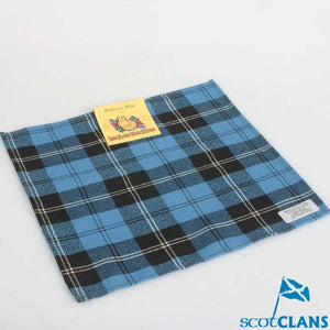 Pocket Square in Ramsay Blue Ancient Tartan