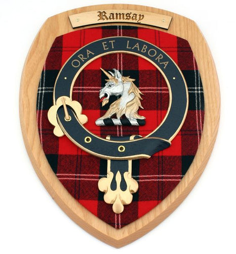Ramsay Clan Crest Plaque