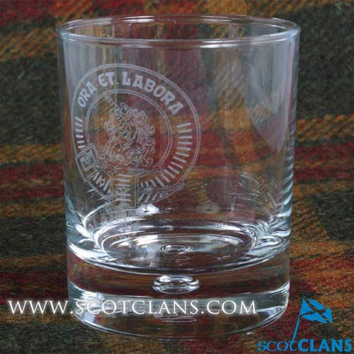 Clan Crest Whisky Glass with Ramsay Crest