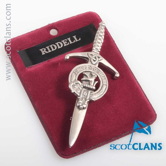 Clan Crest Pewter Kilt Pin with Riddell Crest