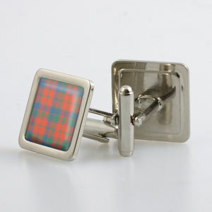 Robertson Ancient Tartan Cufflinks - Choose Your Shape.