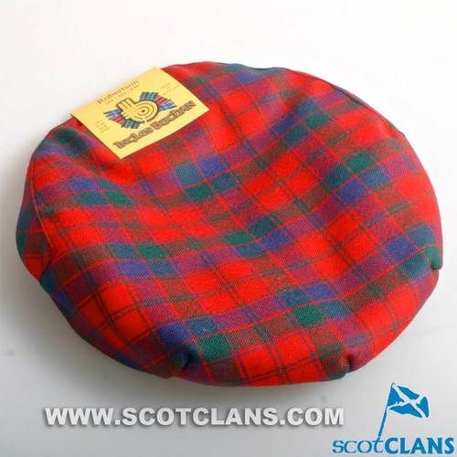 Pure Wool Golf Cap in Robertson Modern Tartan
