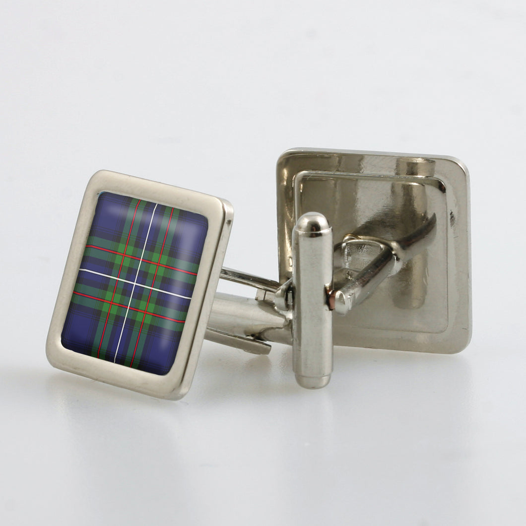 Robertson Hunting Modern Tartan Cufflinks - Choose Your Shape.