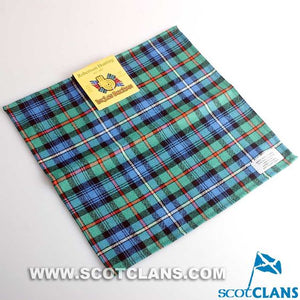 Wool Tartan Pocket Square in Robertson Hunting Ancient Tartan