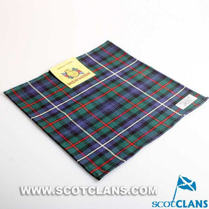 Wool Tartan Pocket Square in Robertson Hunting Modern Tartan