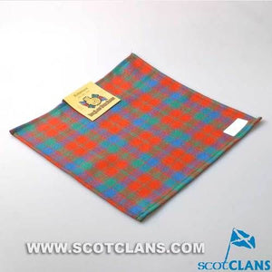 Wool Tartan Pocket Square in Robertson Ancient Tartan