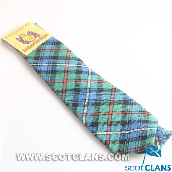 Wool Tie in Robertson Hunting Ancient Tartan