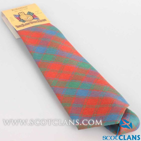 Pure Wool Tie in Robertson Ancient Tartan
