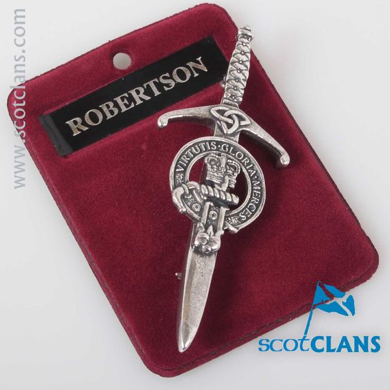 Clan Crest Pewter Kilt Pin with Robertson Crest