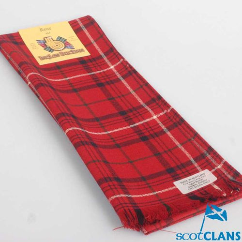 Scarf in Rose Red Modern Tartan
