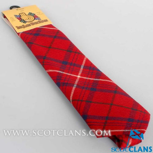 Pure Wool Tie in Rose Red Modern Tartan