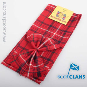 Wool Tartan Mini Sash in Rose Red Modern Tartan