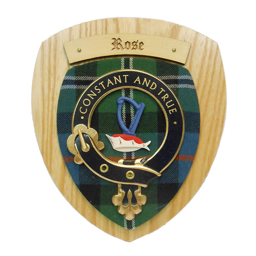 Rose Clan Crest Plaque