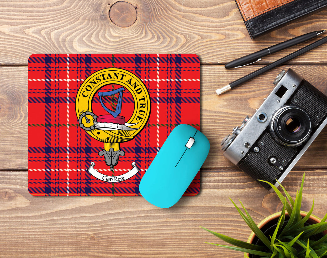 Rose Clan Crest Mouse Pad