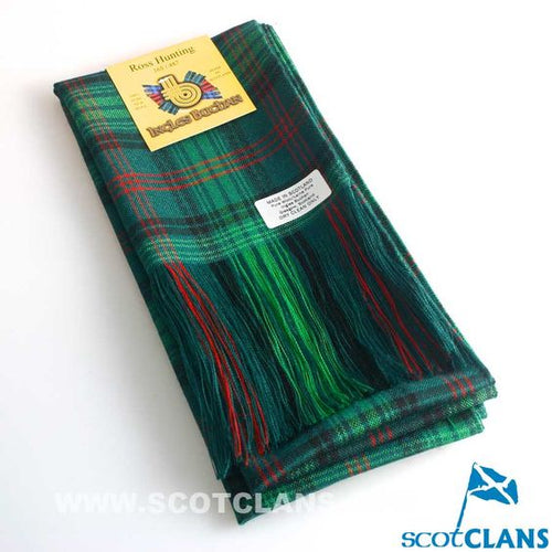 Wool Full Length Sash in Ross Hunting Modern Tartan