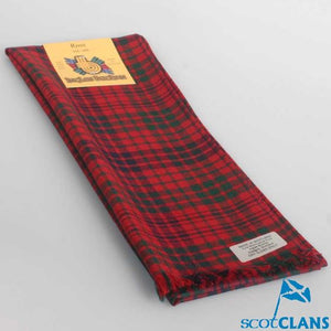 Wool Scarf in Ross Red Modern Tartan