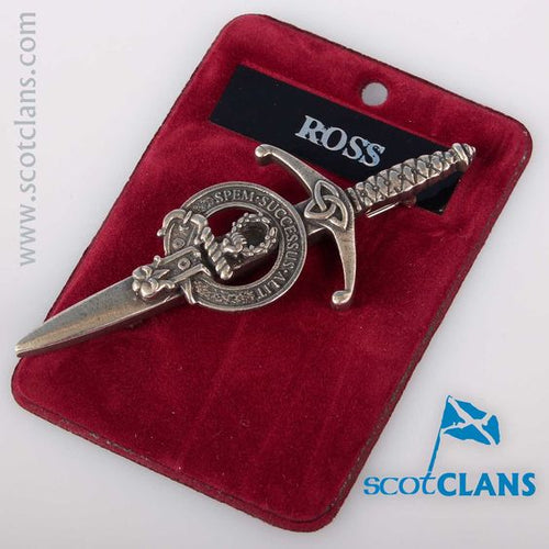 Clan Crest Pewter Kilt Pin with Ross Crest