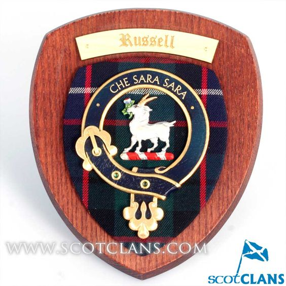Russell Clan Crest Plaque